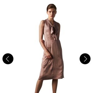 Burberry Antique Taupe Pink Cathy Silk Dress